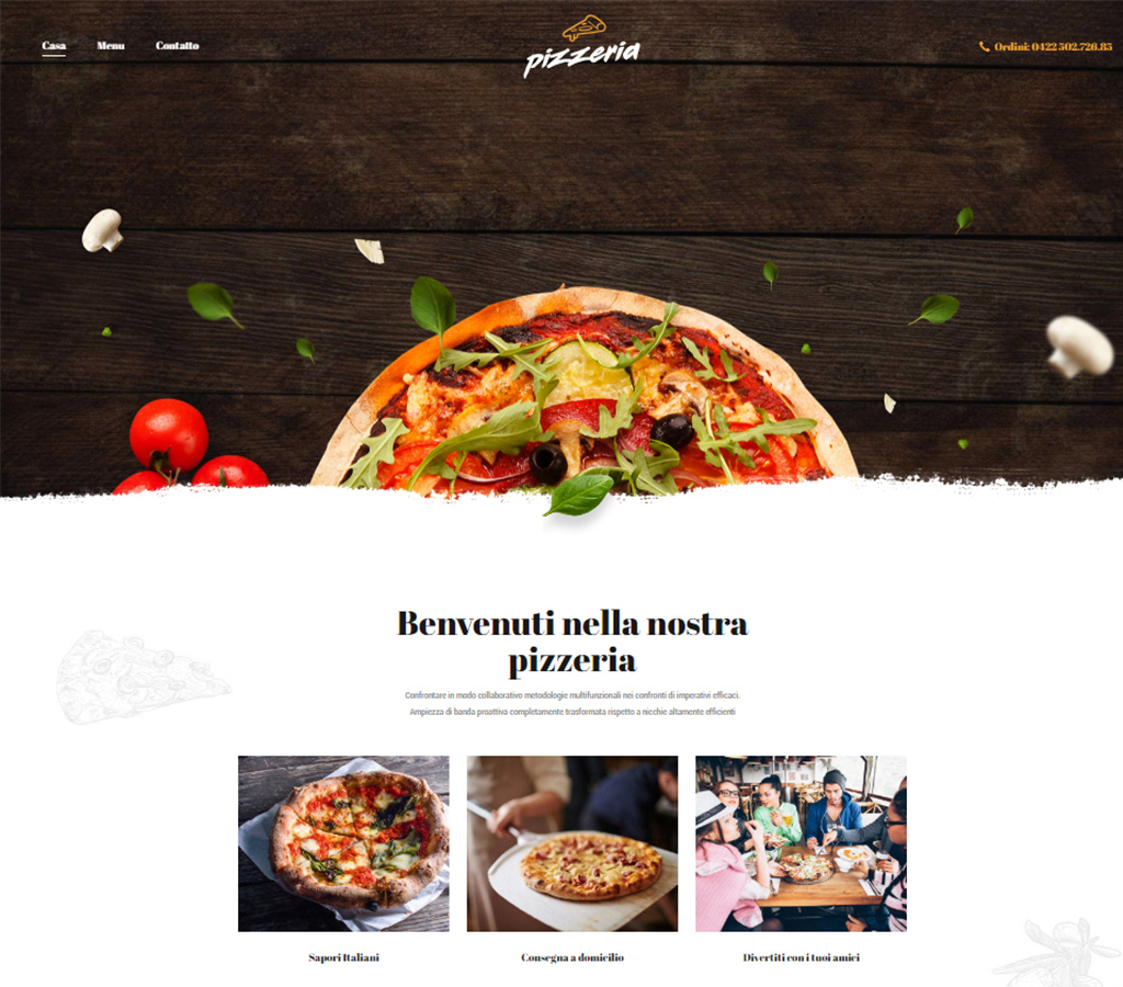 Anteprima sito Pizzeria