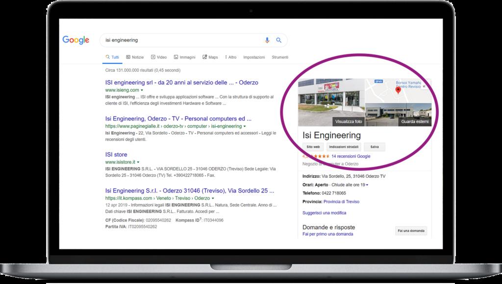 Google info azienda