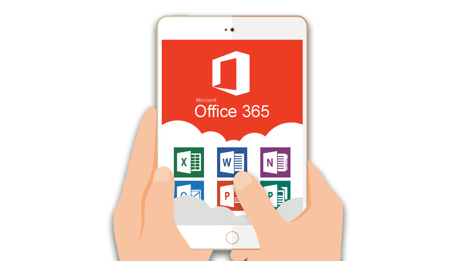 disegno tablet con office 365